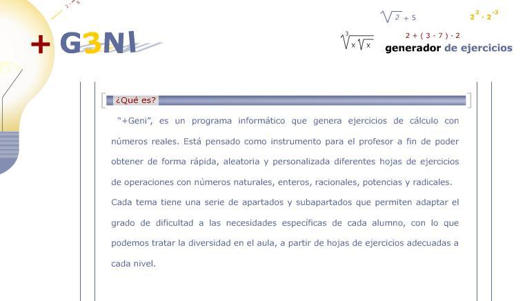 +GENI (GENERADOR DE OPERACIONES MATEMÁTICAS)