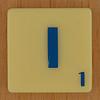 Scrabble Blue Letter I