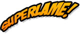SuperLame Word Balloons Logo
